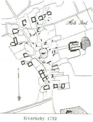 Gårdenes placering i 1792