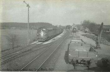 Kværkeby Station 1957